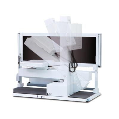 Вертикальная стойка снимков и рентгенографический стол откидной
