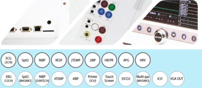 Многофункциональный монитор пациента Votem VP-1000