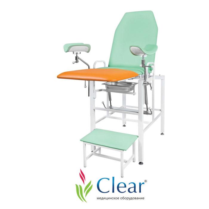 Кресло гинекологическое «Клер» КГФВ 02 гп с передвижной ступенькой